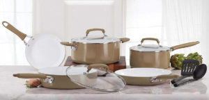 100% ceramic coated cookware